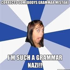 Grammer Nazi Meme - grammar nazi lnn levy news network