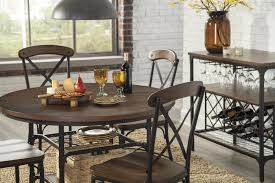 bistro style metal wood dining room side chair by signature design