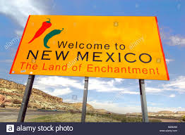 Nm State Flag Welcome To New Mexico State Sign Stock Photo Royalty Free Image
