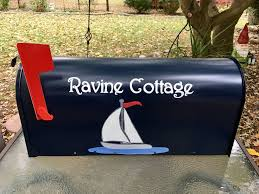Nautical Themed Mailboxes - best 25 painted mailboxes ideas on pinterest mailbox makeover