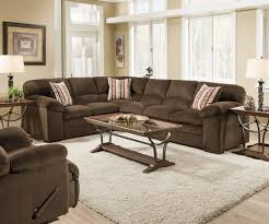 plush sectional sofas simmons dover 8043 chocolate ultra plush soft seating made in the usa
