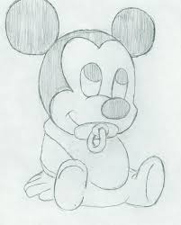 pictures mickey mouse cartoon with pencil draw drawing art gallery