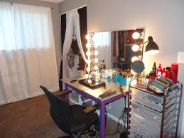 Girls Bedroom Vanity Plans Furniture Gorgeous Design Of Mirrored Makeup Vanity For Home