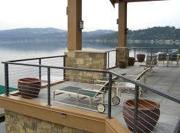 back porch designs deck traditional with balcony cable deck fence