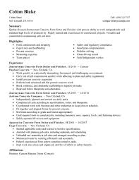 Resume Job Description For Construction Laborer by Best Journeymen Concrete Form Setters And Finishers Resume Example