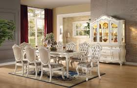 9 dining room set chantelle pearl white 9 dining table set
