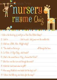 safari animals nursery rhyme quiz game instant download