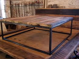 industrial square coffee table large square coffee table with industrial by barnwoodfurniture new