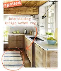 Striped Kitchen Rug Spotted Dash Albert Jute Ticking Indigo Woven Rug Tuvalu Home