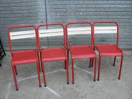 Vintage Bistro Chairs Vintage Metal Bistro Chairs Set Of 4 For Sale At Pamono