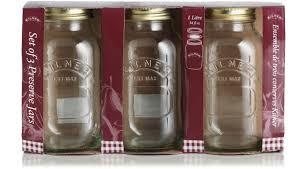 amazon co uk storage jars canisters home kitchen ravenhead 1 litre kilner preserve jar sleeve of 3