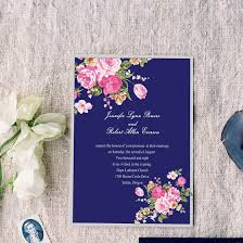 vintage wedding invitations cheap peony navy blue printable vintage wedding invitations