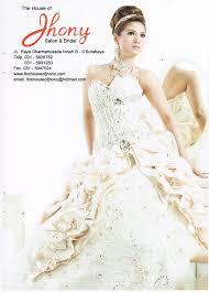 wedding dress surabaya the house of jhony salon bridal pameran wedding