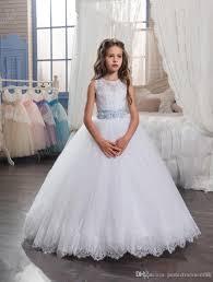 kids wedding dresses kids wedding dresses 2017 with tiered skirt and beaded belt