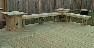 deck bench with table and planter deck ideas pinterest