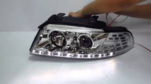 audi a4 headlights a4 s4 1994 2001 b5 8d projector led r8 headlight w amber chrome