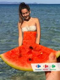 si e social carrefour anche carrefour si fa contagiare dal watermelondress italiafruit