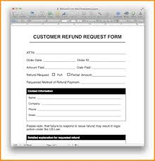 refund receipt template template examples