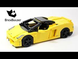 lego lamborghini car lego racers 8169 lamborghini gallardo lego speed build