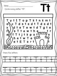 color by letter capital and lowercase t letters worksheets and