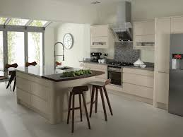 kitchen bar stools at breakfast bar in modern kitchen uk home