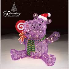 Outdoor Christmas Yard Decorations by Trimming Traditions Outdoor Christmas Icy Hippo Decoration