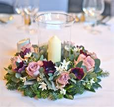 wedding flowers table decorations plum and silver winter wedding flowers norwood winter table