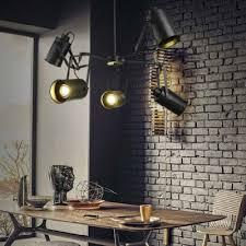 Spotlight Chandelier Black Finish Five Light Industrial Spotlight Led Chandelier 35