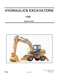 case hydraulics excavators 1188 shop manual tire bearing