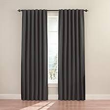 95 Inch Curtain Panels Amazon Com Eclipse 12968052095chr Wyndham 52 Inch By 95 Inch