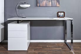 bureau gris laqué bureau design pas cher blanc meuble massif lepolyglotte