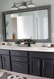 framed bathroom mirrors diy diy bathroom mirror frame for under 10 blue wood stain mirror