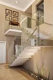 Preferidos A escada com degraus em mármore Travertino Romano Bruto e guarda  &MB08