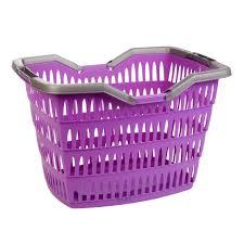 large 30 litre laundry basket with folding handles storage washing