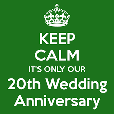 20th wedding anniversary keep calm it s only our 20th wedding anniversary poster rle