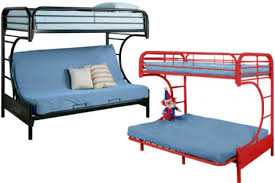 Black Metal Futon Bunkbed Boomerang Kids Futon Bunk The Futon Shop - Futon bunk bed
