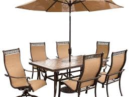 Patio Furniture Set With Umbrella - patio 63 patio dining set with umbrella patio furniture