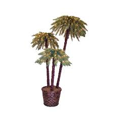 lowes artificial christmas trees with lights shop 6 ft potted potted caribbean palms pre lit artificial christmas
