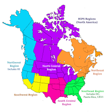 Map Of North East America by Hips Regions North America Historic Iris Preservation Society