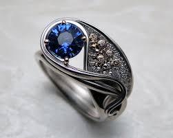 nouveau engagement rings gustav klimt inspired nouveau engagement ring