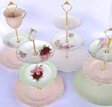 3 tier wedding cake stand how to make a vintage 3 tier cup cake plate wedding stand diy