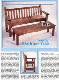 Outdoor Garden Bench Plans by Garden Bench And Table Plans U2022 Woodarchivist