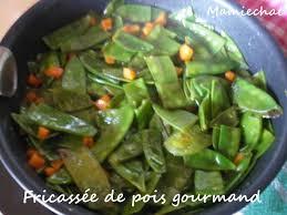 cuisiner des pois gourmands fricassée de pois gourmands le de chantal76