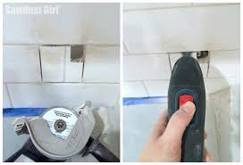 how to cut tile around cabinets how to cut tile in a backsplash sawdust