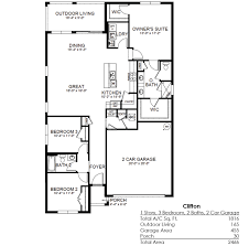 Car Floor Plan Clifton Entrada Cape Coral Florida D R Horton