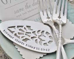i do me too vintage wedding cake forks matching set