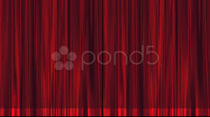 maroon burgundy stage theater curtain opens from center to black