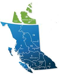 map of bc bc regional map goabc guide outfitters association of