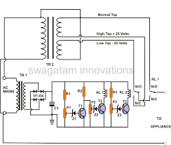 Cl 2 Transformer Wiring Diagram How To Make An Automatic Voltage Stabilizer Circuit Construction