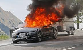 peugeot fire audi a7 catches fire